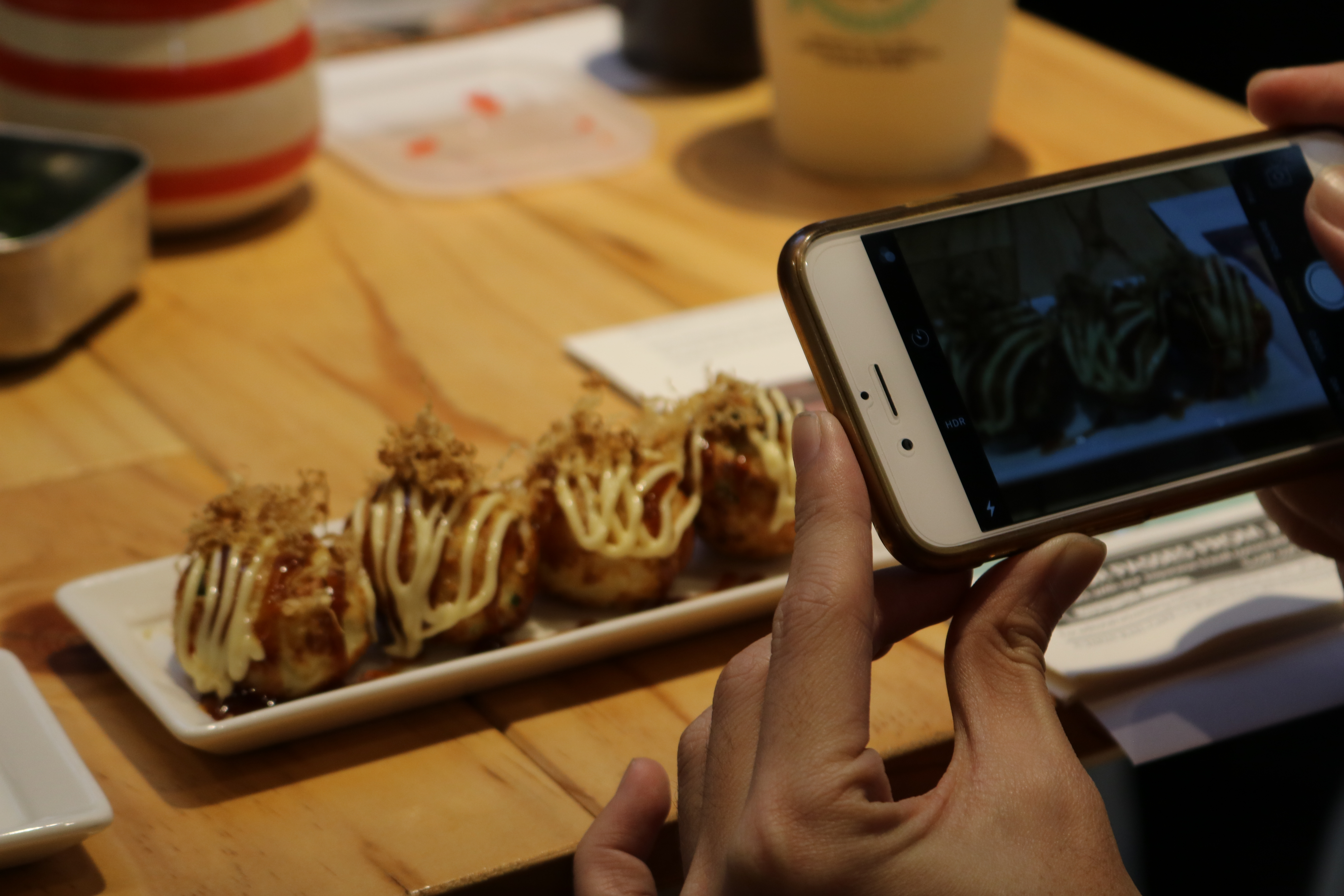 Getting that Instagram-worthy shot of mouthwatering takoyaki!